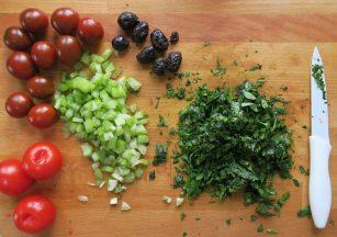 Salatzutaten halbe Portion