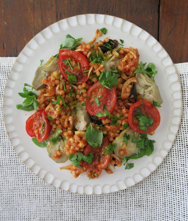Fregola Tomaten Artischocken