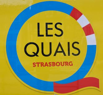 Bauzaun Strasbourg Quais de l'Ill Copyright Logo Strasbourg.eu
