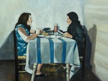 Blind lunch. Oil on Canvas, 110x150 cm 2015