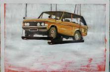 Embarque. Oil on paper, 70x100 cm2015