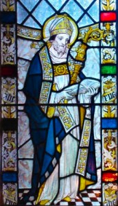 Saint Swithin window at York cathedral