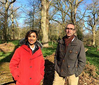 Gabriel Hemery and BBC Countryfile presenter Anita Rani