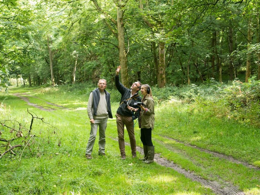 Gabriel Hemery being interviewed for BBC Radio 4 Farming Today, 11 September 2015