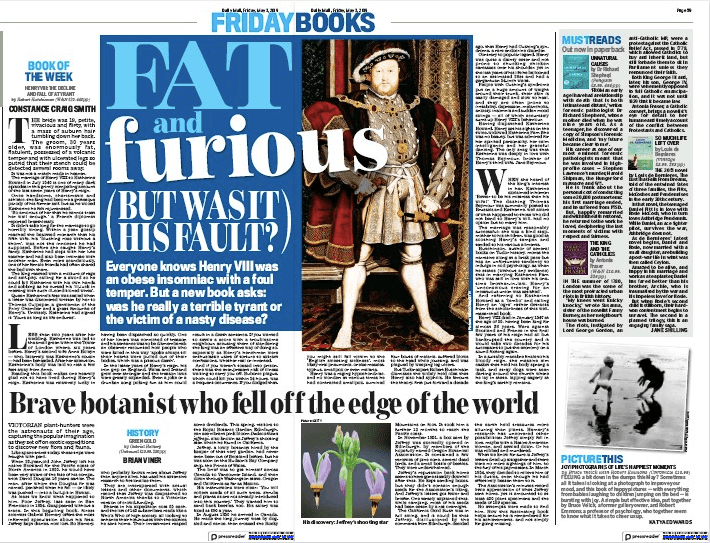 Brave botanist who fell off the edge of the world. The Daily Mail, 3rd May 2019