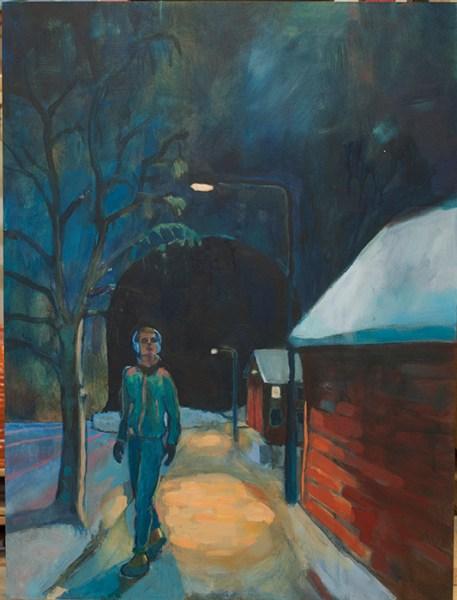 """Nattvandraren"" (Eller ""Keep the streets empty for me""), 60x80cm."