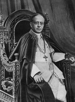 Pio XI, papa dal 1922 al 1939.