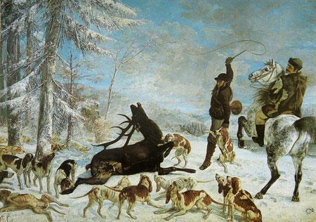 Gustave Courbet, L'hallalì del cervo, 1867
