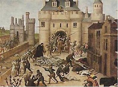 Il massacro degli ugonotti a Parigi nella notte di San Bartolomeo, 23-24 agosto 1572