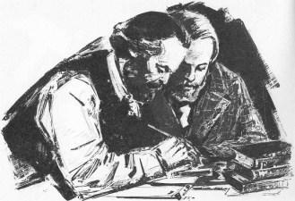 Con la Sacra famiglia (1844), inizia la collaborazione di Marx ed Engels