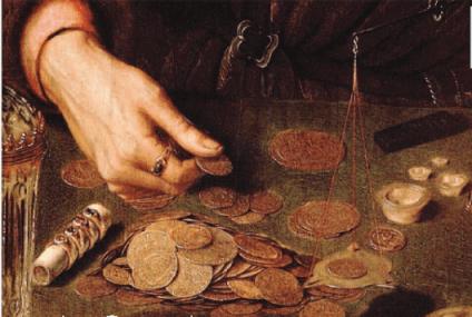 Il banchiere e sua moglie, 1514 [particolare] - particolare