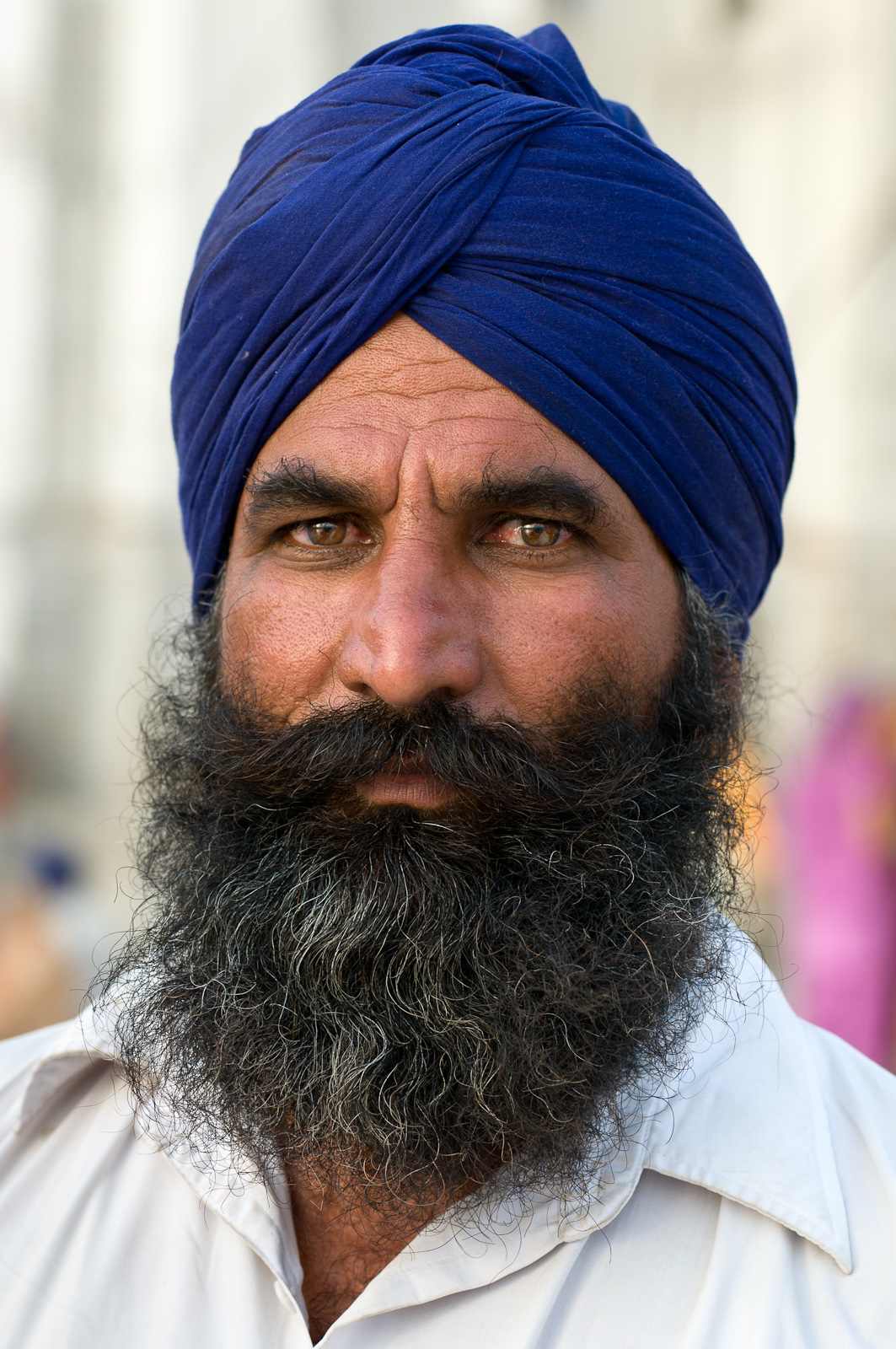 Sikh man at the Golden Temple in Amritsar