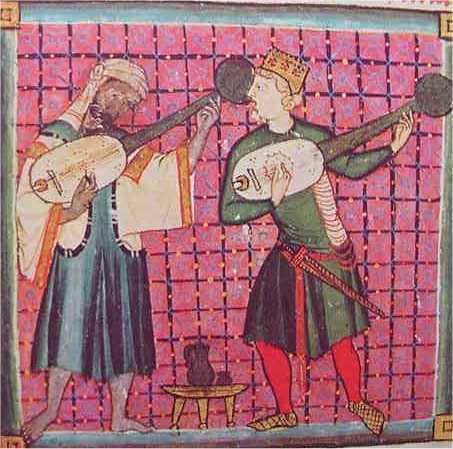 Musici della corte normanna in Sicilia - miniatura
