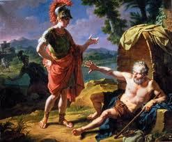 """Diogene ed Alessandro Magno: """"Spostati, mi fai ombra"""""""