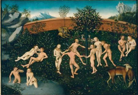 Lucas Cranach il vecchio, L'età dell'oro, 1540 ca