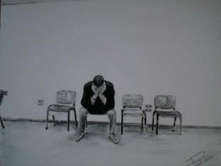 Paziente in attesa nella sala d'aspetto di un ospedale