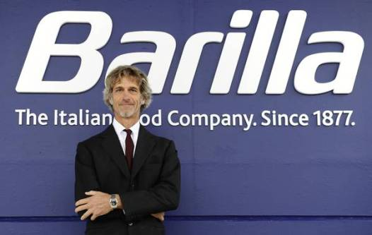 Guido Barilla all'inaugurazione dello stabilimento di Rubbiano di Solignano (Parma), 8 ottobre 2012. ANSA/DANIEL DAL ZENNARO