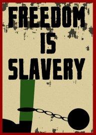 frredom is slaverty