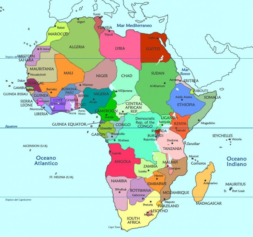 Africa Politica Cartina In Italiano.Africa Mappa Politica Gabriella Giudici