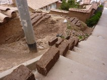 Adobe bricks drying