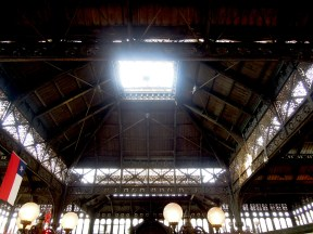 Ceiling of the Mercado Central