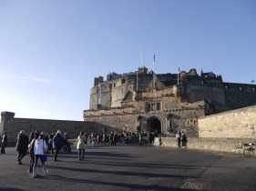 The first thing we did when we got to Edinburgh was walk up The Royal Mile into Edinburgh Castle.