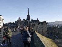 To the left, The Royal Mile. To the right, the grass markets.