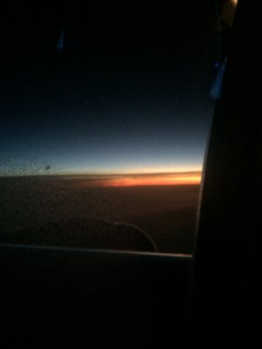 We flew into the sunrise and it was amazing.