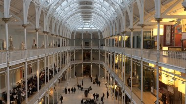 Lindsey and I went to the National Museum of Scotland. I was fascinated by the main atrium. I loved this room!