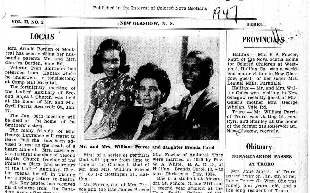 "Family photography in ""The Clarion"" newspaper (1946-56)"