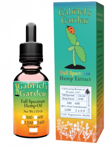 CBD oil product box and bottle in optional potencies