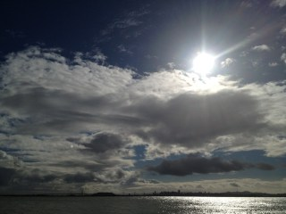 More sunshine and clouds