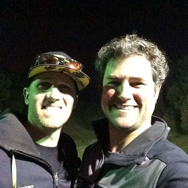 Andy's last night in town... Hitting the range