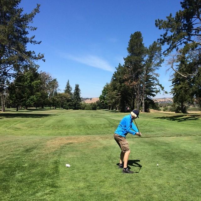 Birthday golf with Jim