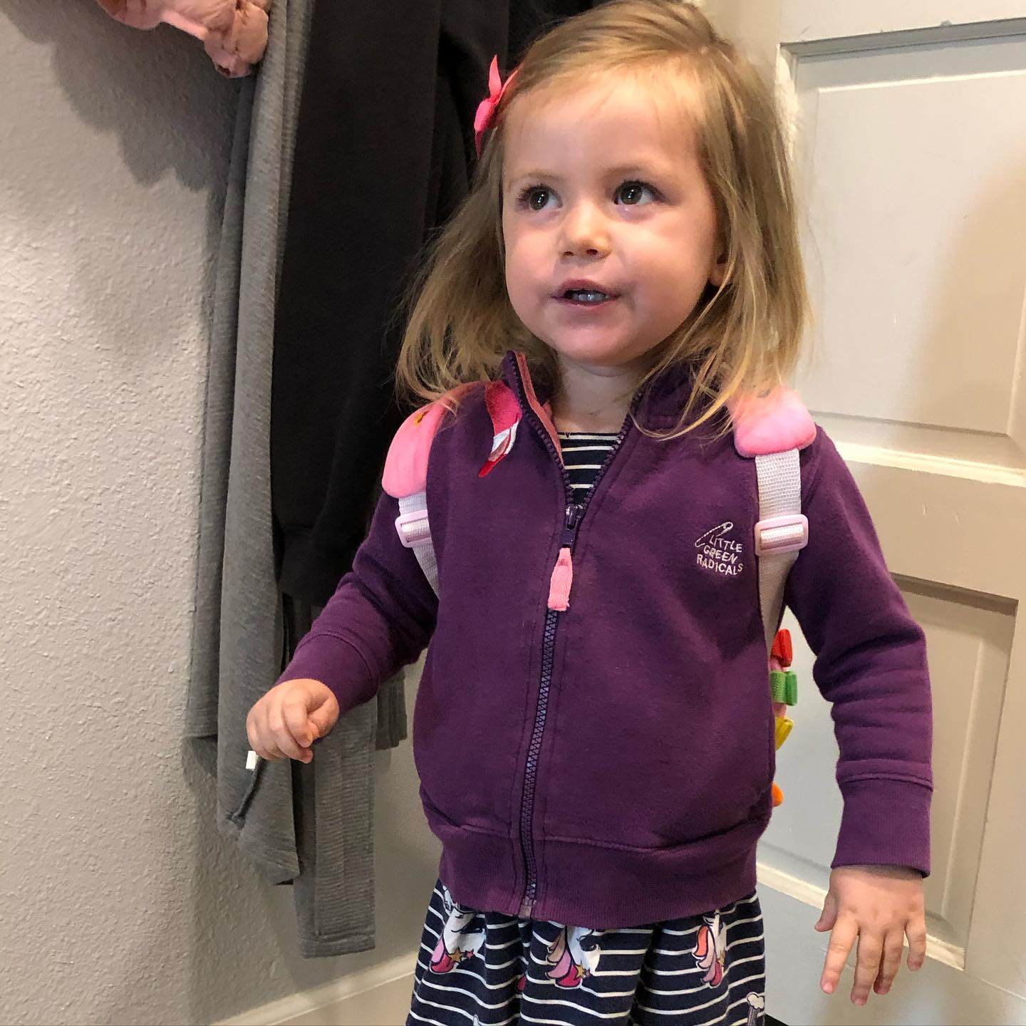 Isabella's first day of preschool!!! She did great. Brick Space in Benicia