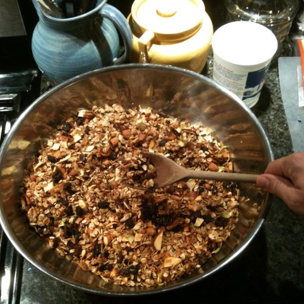 Large batch of mom's amazing homemade granola SO Yummy!