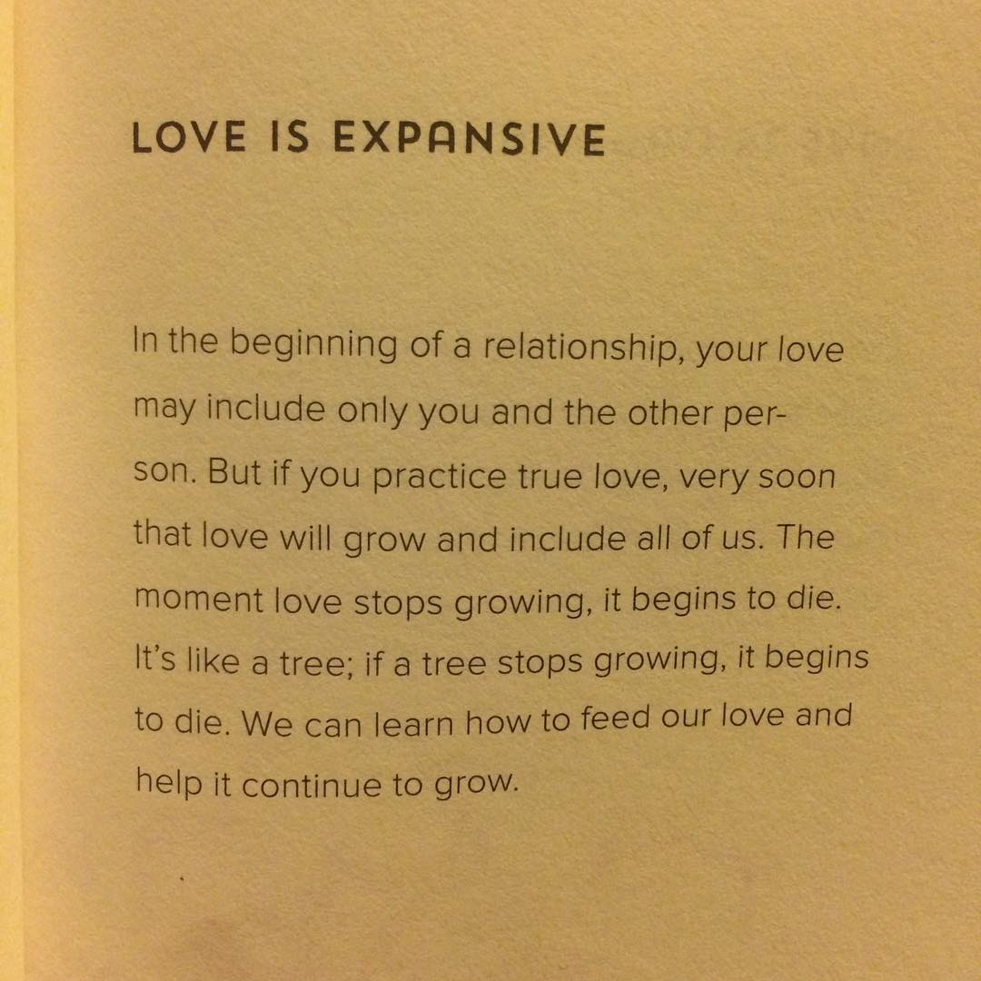 Love is expansive