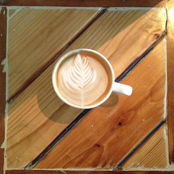 Lovely early morning latte