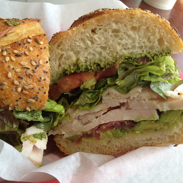 The Hippy Ranch Turkey sandwich - very tasty :)