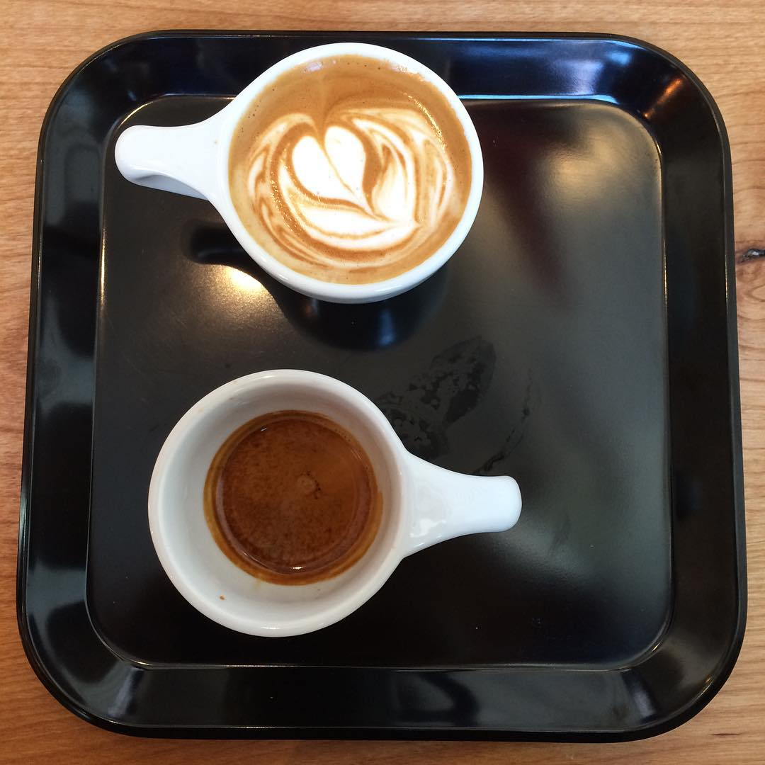 "The ""one and one"" @moderncoffee"