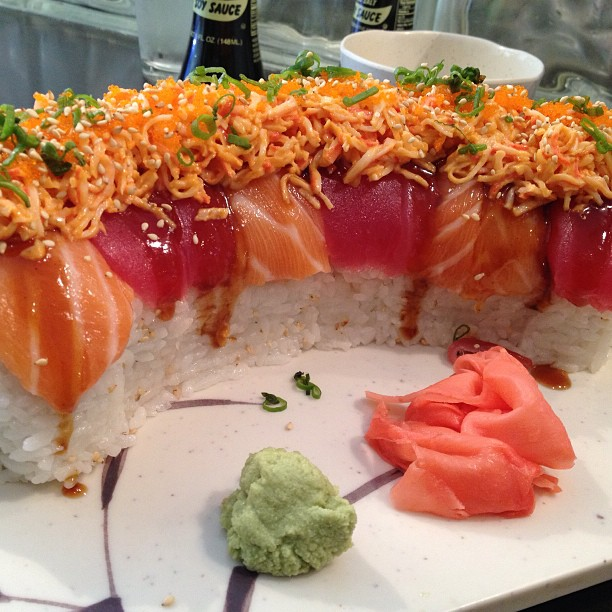 The Titanic roll at Ichiro Sushi is so big it's ridiculous. Thank goodness it is also delicious.