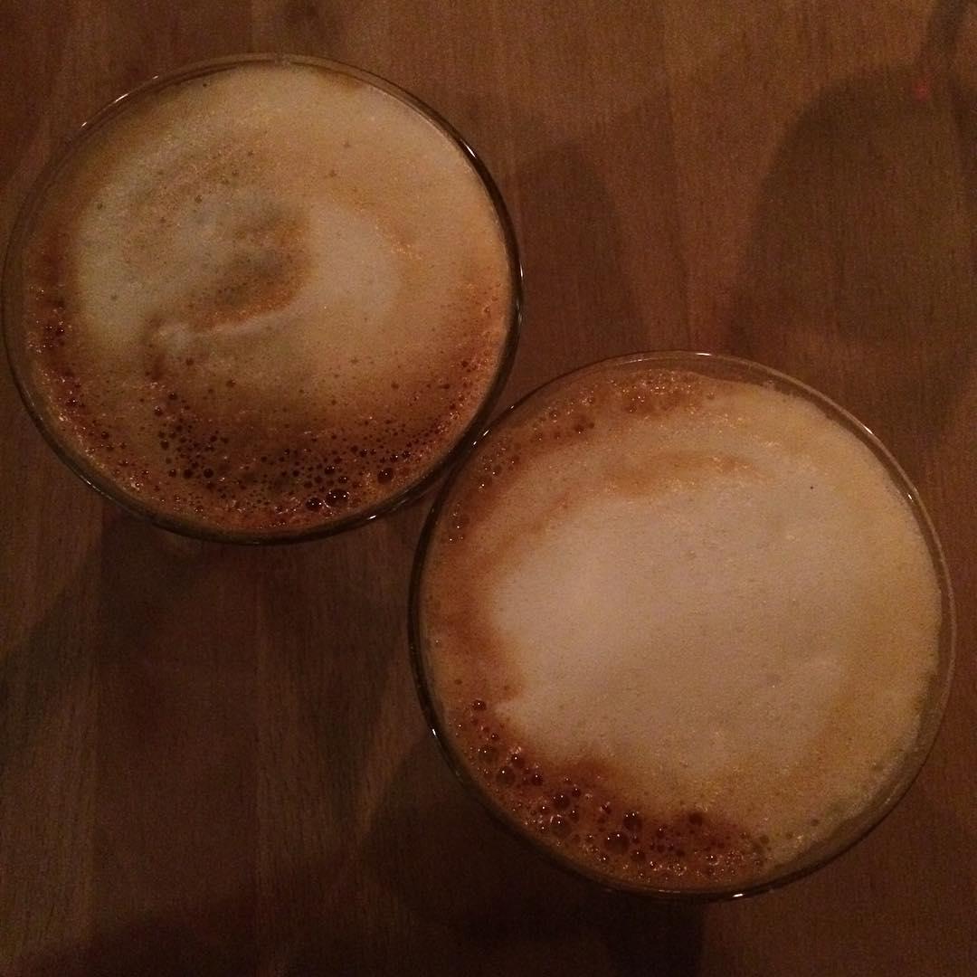 Valentine's Day cappuccinos