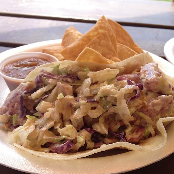 Wasabi ahi taco