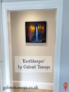 Earthkeeper in his new home by Gabriel Tamaya