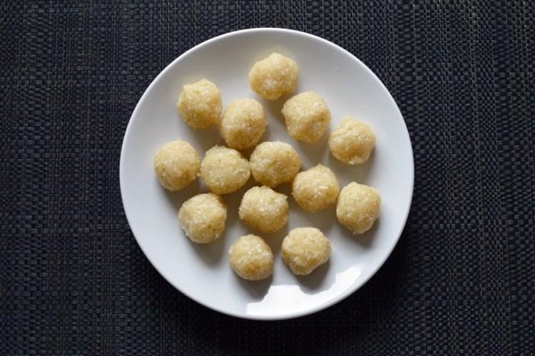 Macadamia coconut and lime bliss balls