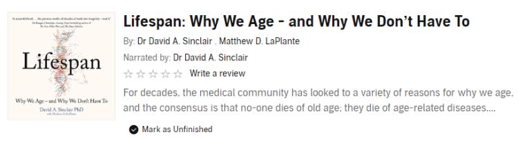 Lifespan David Sinclair