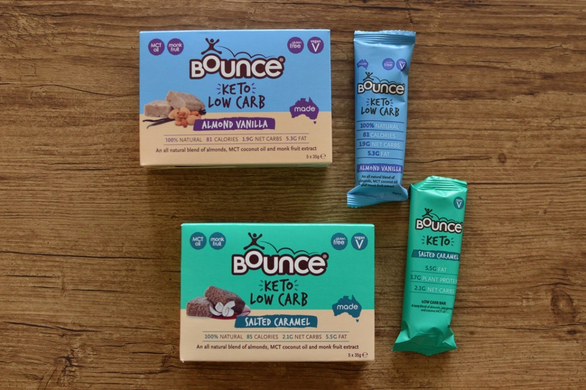 Bounce keto low carb bars