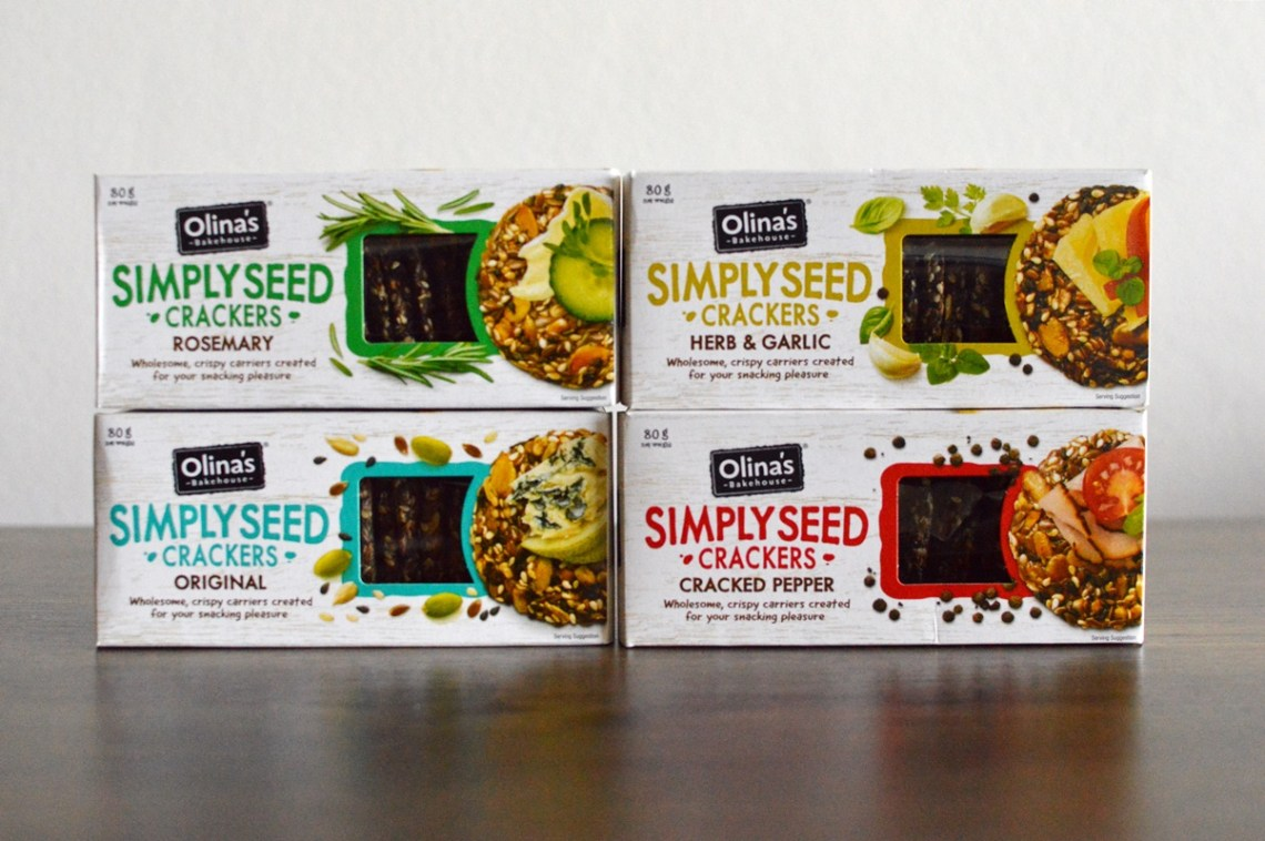 Olina's Simply Seed crackers