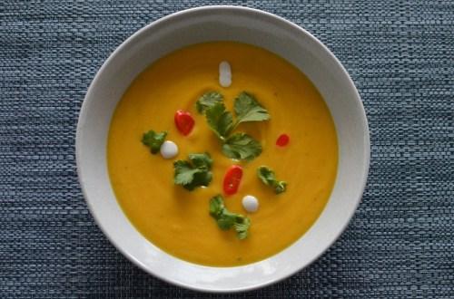 Roasted pumpkin and sweet potato soup