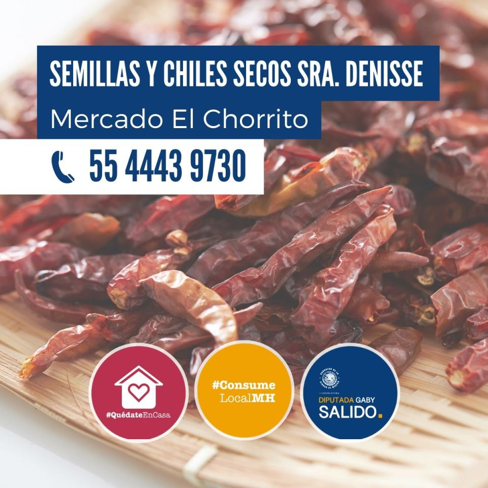 Semillas y chiles secos Sra. Denisse